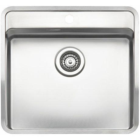 Reginox Ohio 50x40 1.0 Bowl Stainless Steel Kitchen Sink with Tap Ledge