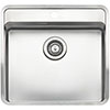 Reginox Ohio 50x40 1.0 Bowl Stainless Steel Kitchen Sink with Tap Ledge profile small image view 1
