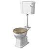Old London Richmond Comfort Height Mid-Level Traditional Toilet + Soft Close Seat profile small image view 1