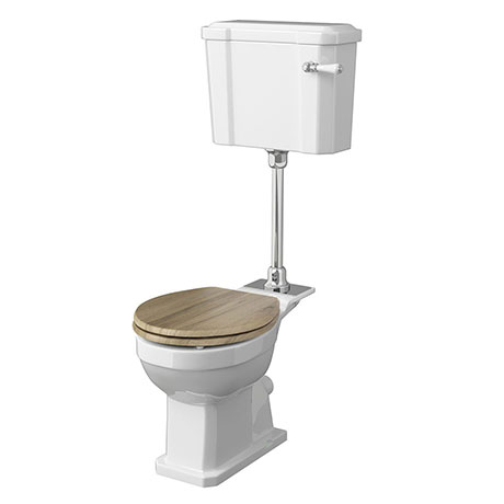 Old London Richmond Mid-Level Traditional Toilet + Soft Close Seat