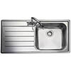 Rangemaster Oakland 1.0 Bowl Stainless Steel Kitchen Sink profile small image view 1