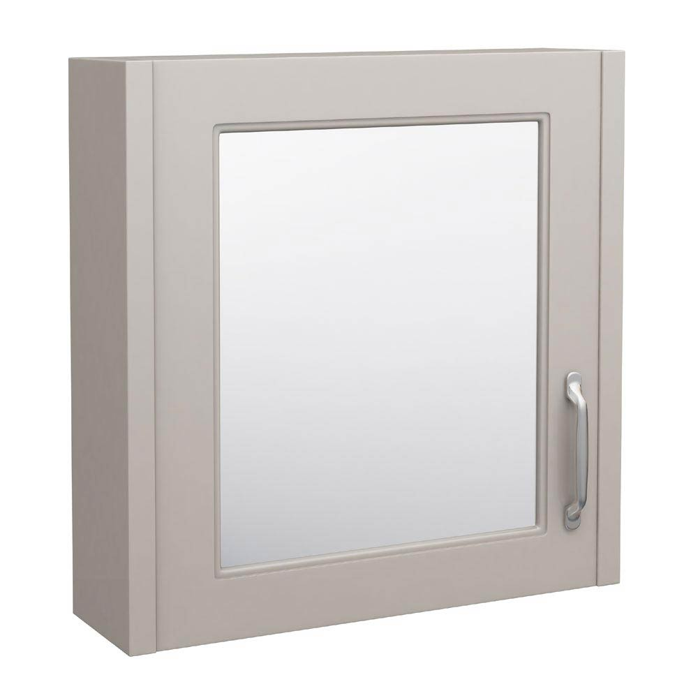 York Bathroom Cabinet with Mirror - 600mm Large Image