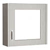 York Grey Bathroom Cabinet with Mirror - 600mm Medium Image