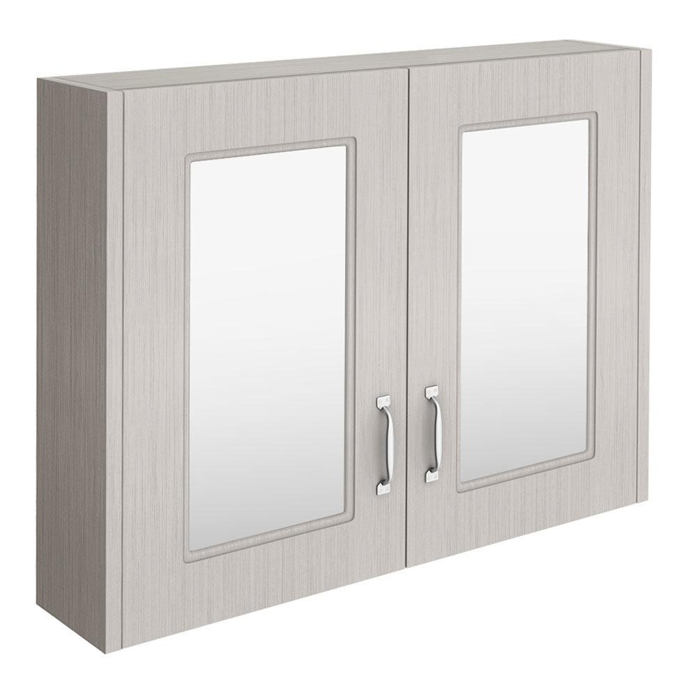 York Traditional Grey 2 Door Mirror Cabinet (800 x 162mm)