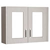 York Traditional Grey 2 Door Mirror Cabinet (800 x 162mm) profile small image view 1