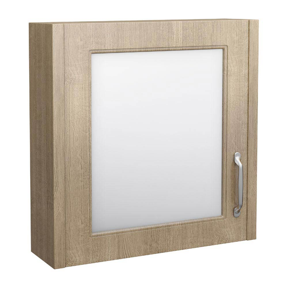 York Traditional Wood Finish 1 Door Mirror Cabinet (600 x 162mm) Large Image