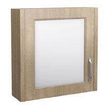 York Traditional Wood Finish 1 Door Mirror Cabinet (600 x 162mm) Medium Image