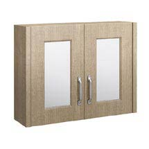 York Traditional Wood Finish 2 Door Mirror Cabinet (800 x 162mm) Medium Image