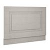 York 700mm Grey Traditional End Bath Panel & Plinth profile small image view 1