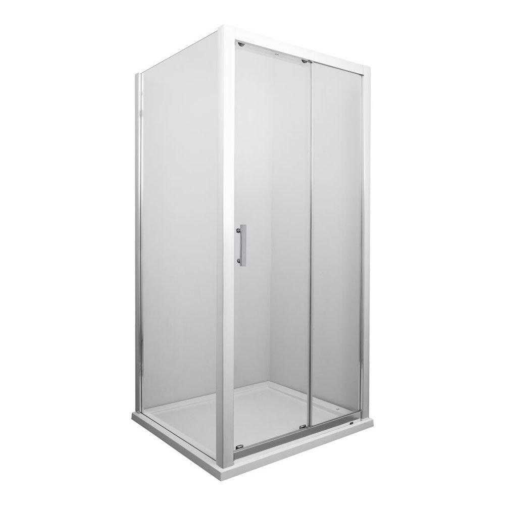 Old London - Sliding Shower Door Enclosure 8mm - Various Size Options Large Image