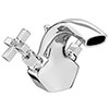 Olympia Art Deco Basin Mixer Tap + Pop Up Waste profile small image view 1