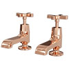 Olympia Rose Gold Art Deco Basin Taps + Waste profile small image view 1