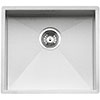 Reginox Ontario 50x40 1.0 Bowl Stainless Steel Integrated Kitchen Sink profile small image view 1