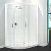 Coram Optima Offset Quadrant Shower Enclosure - White - Various Size Options profile small image view 1