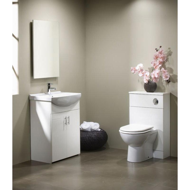 Tavistock Opal 500mm Freestanding Unit & Basin - Gloss White Standard Large Image