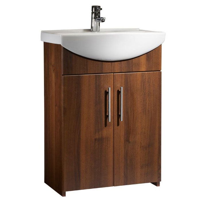 Tavistock Opal 600mm Freestanding Unit & Basin - Walnut Large Image