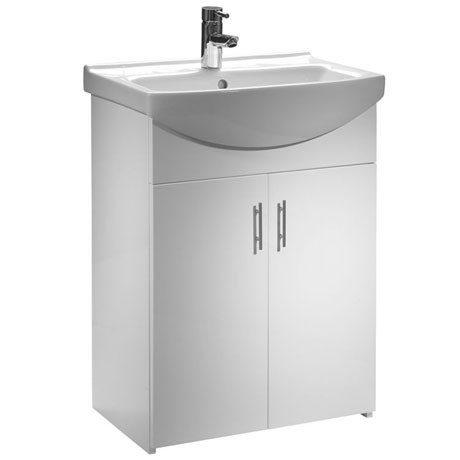 Tavistock Opal 600mm Freestanding Unit & Basin - Gloss White