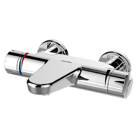 Bristan - Opac Thermostatic Wall Mounted Bath Filler with Chrome Handwheels - OP-THBF-WMH-C