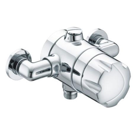 Bristan - Opac Thermostatic Exposed Shower Valve with Chrome Handwheel - OP-TS1503-EH-C profile large image view 1