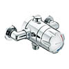 Bristan - Opac Thermostatic Exposed Shower Valve with Chrome Handwheel - OP-TS1503-EH-C profile small image view 1