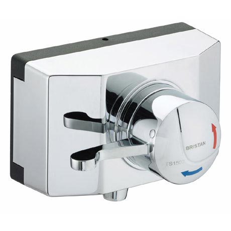 Bristan - Opac Thermostatic Exposed Shower Valve with Chrome Lever and Shroud - OP-TS1503-SCL-C