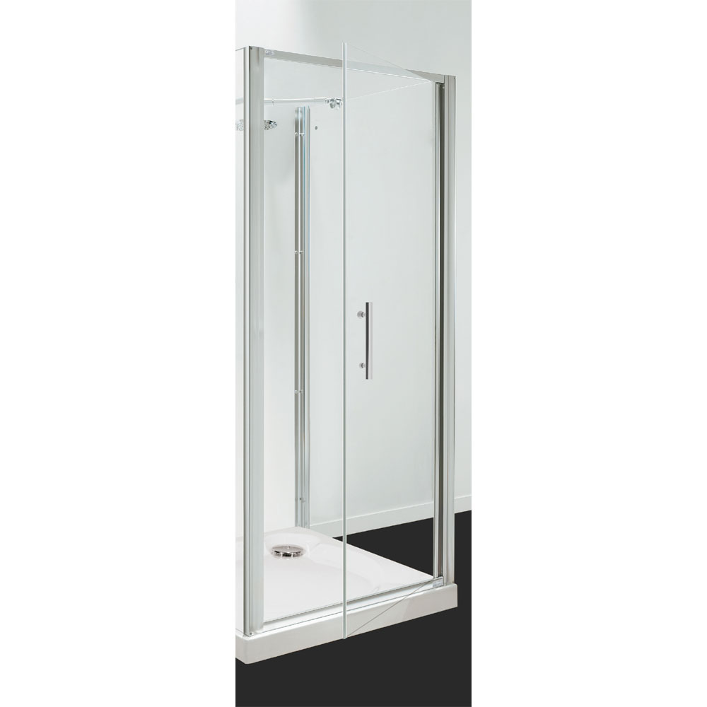 Coram - Optima Pivot Shower Door - Chrome - Various Size Options Large Image