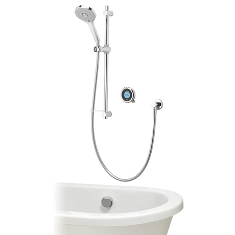 Aqualisa Optic Q Smart Shower Concealed with Adjustable Head and Bath Filler