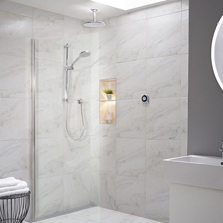 Aqualisa Optic Q Smart Shower Concealed with Adjustable and Ceiling Fixed Head