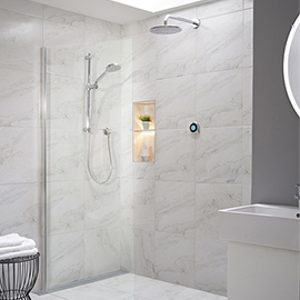 Aqualisa Optic Q Smart Shower Concealed with Adjustable and Wall Fixed Head