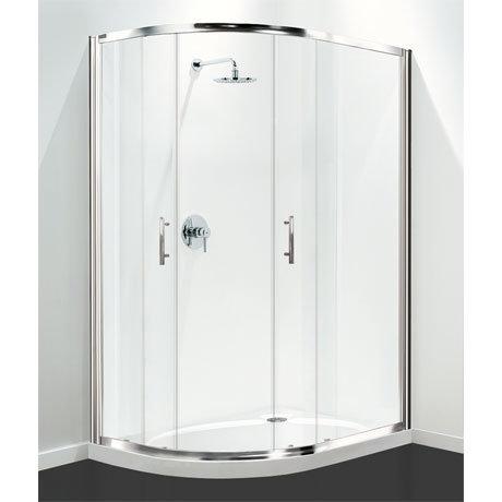 Coram - Optima Offset Quadrant Shower Enclosure - Chrome - Various Size Options