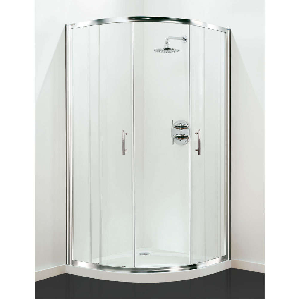 Coram - Optima Quadrant Shower Enclosure - Chrome - Various Size Options Large Image