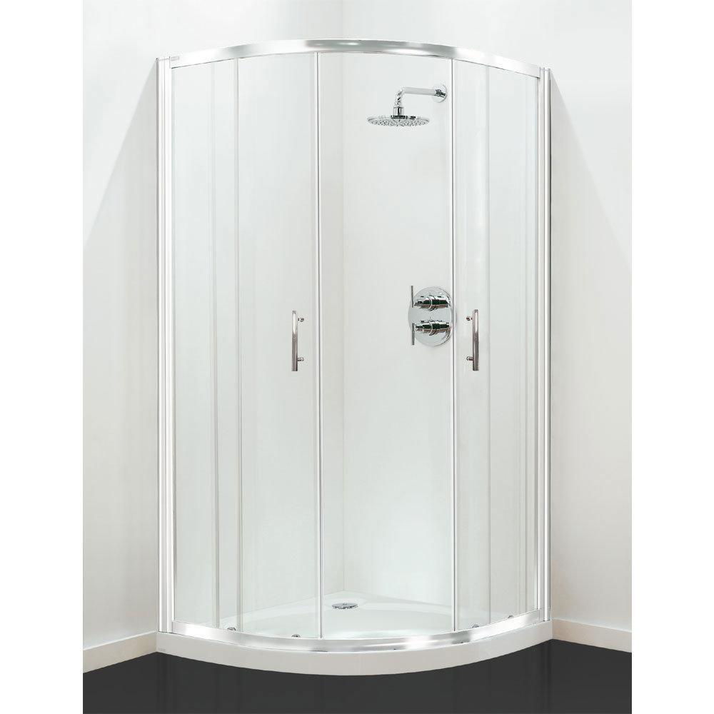 Coram - Optima Quadrant Shower Enclosure - White - Various Size Options Large Image