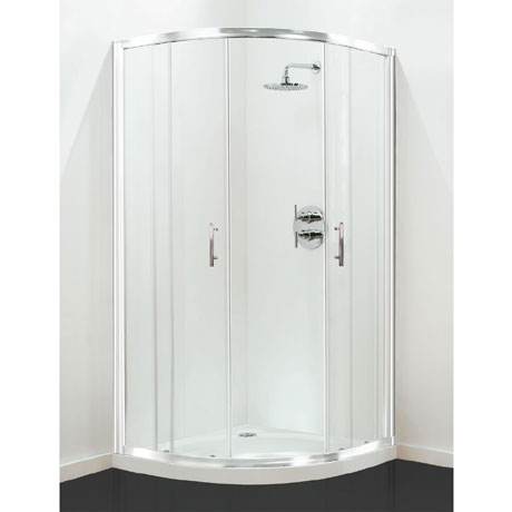 Coram - Optima Quadrant Shower Enclosure - White - Various Size Options