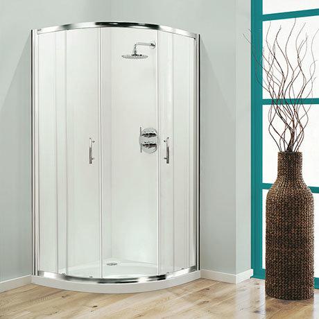 Coram - Optima Quadrant Shower Enclosure - Chrome - Various Size Options