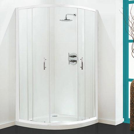 Coram - Optima Quadrant Shower Enclosure - White - Various Size Options