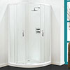 Coram - Optima Quadrant Shower Enclosure - White - Various Size Options profile small image view 1