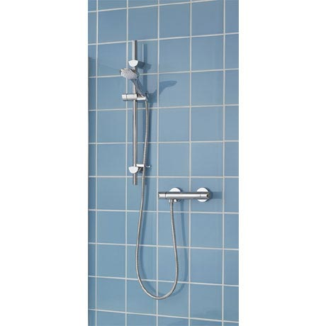 Bristan - Orta Thermostatic Surface Mounted Bar Shower Valve with Kit - OR2-SHXSM-C