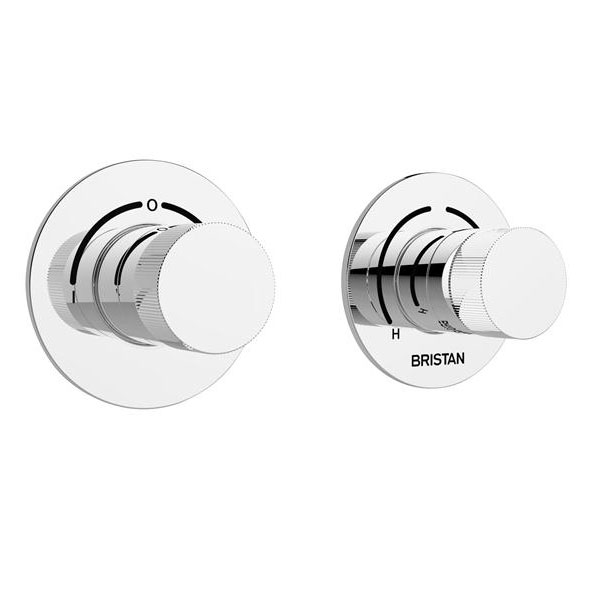 Bristan - Orb Thermostatic Recessed Dual Control Shower Valve with Integral Two Outlet Diverter - ORB-SHCDIV-C profile large image view 1