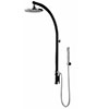 Bristan Orb Black Thermostatic Inline Exposed Shower Valve with Rigid Riser & Diverter profile small image view 1