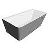 Orion Matt Grey Back To Wall Modern Square Bath (1700 x 740mm) profile small image view 1