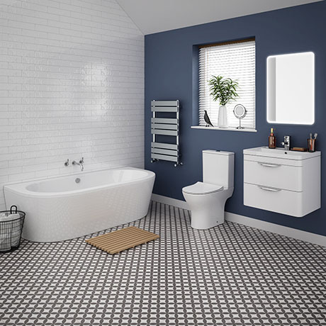 Orion Modern Back To Wall Bathroom Suite