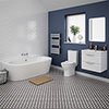 Orion Modern Back To Wall Bathroom Suite profile small image view 1