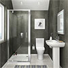 Orion Space-Saving En-Suite Bathroom profile small image view 1