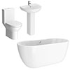 Orion Modern Small Free Standing Bathroom Suite profile small image view 1