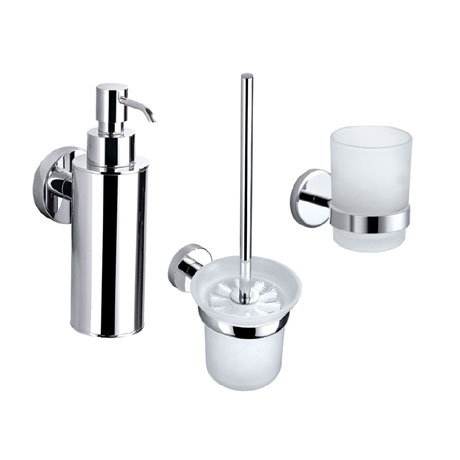 Orion Bathroom Accessories Set - Chrome