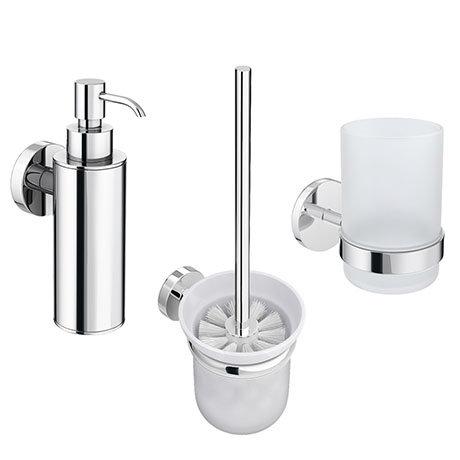 Orion Bathroom Accessories Set - Chrome
