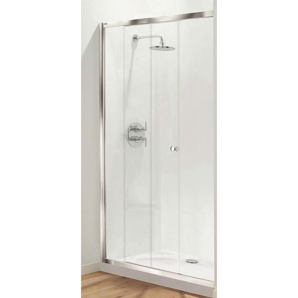 Coram Optima Sliding Shower Door (1200mm - Chrome) - OSL12CUC Large Image