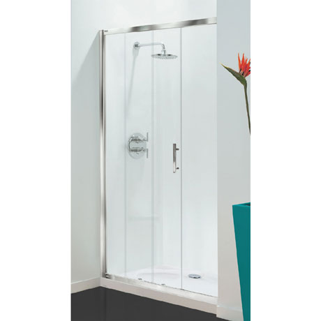 Coram - Optima Sliding Shower Door - Chrome - Various Size Options