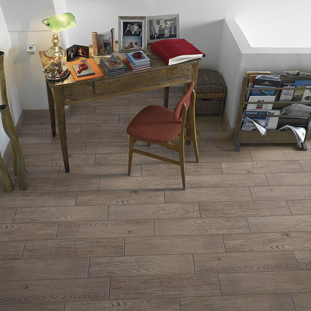 Oslo Dark Wood Tiles - Wall and Floor - 150 x 600mm Feature Large Image