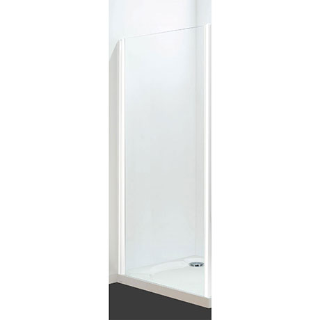 Coram - Optima Semi-Frameless Side Panel - White - Various Size Options